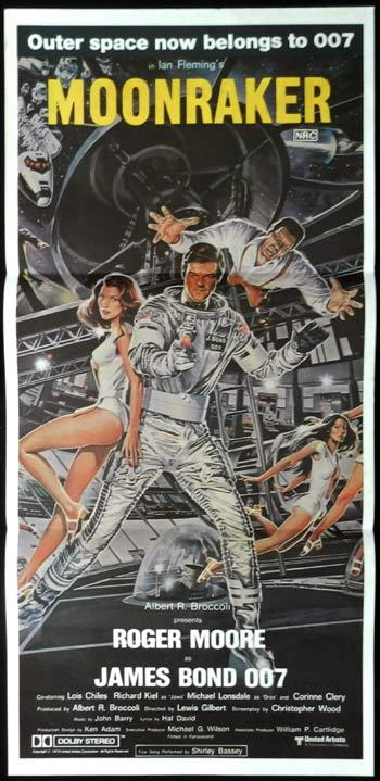"MOONRAKER Original Australian daybill Movie poster James Bond 007 ""A"""