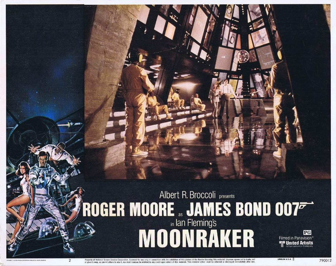 MOONRAKER Original Lobby Card 2 JAMES BOND Roger Moore Lois Chiles