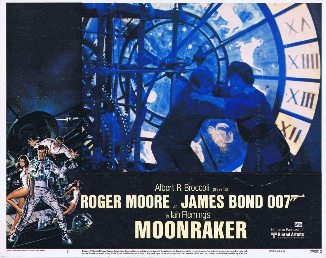 MOONRAKER Original Lobby Card 3 JAMES BOND Roger Moore Lois Chiles
