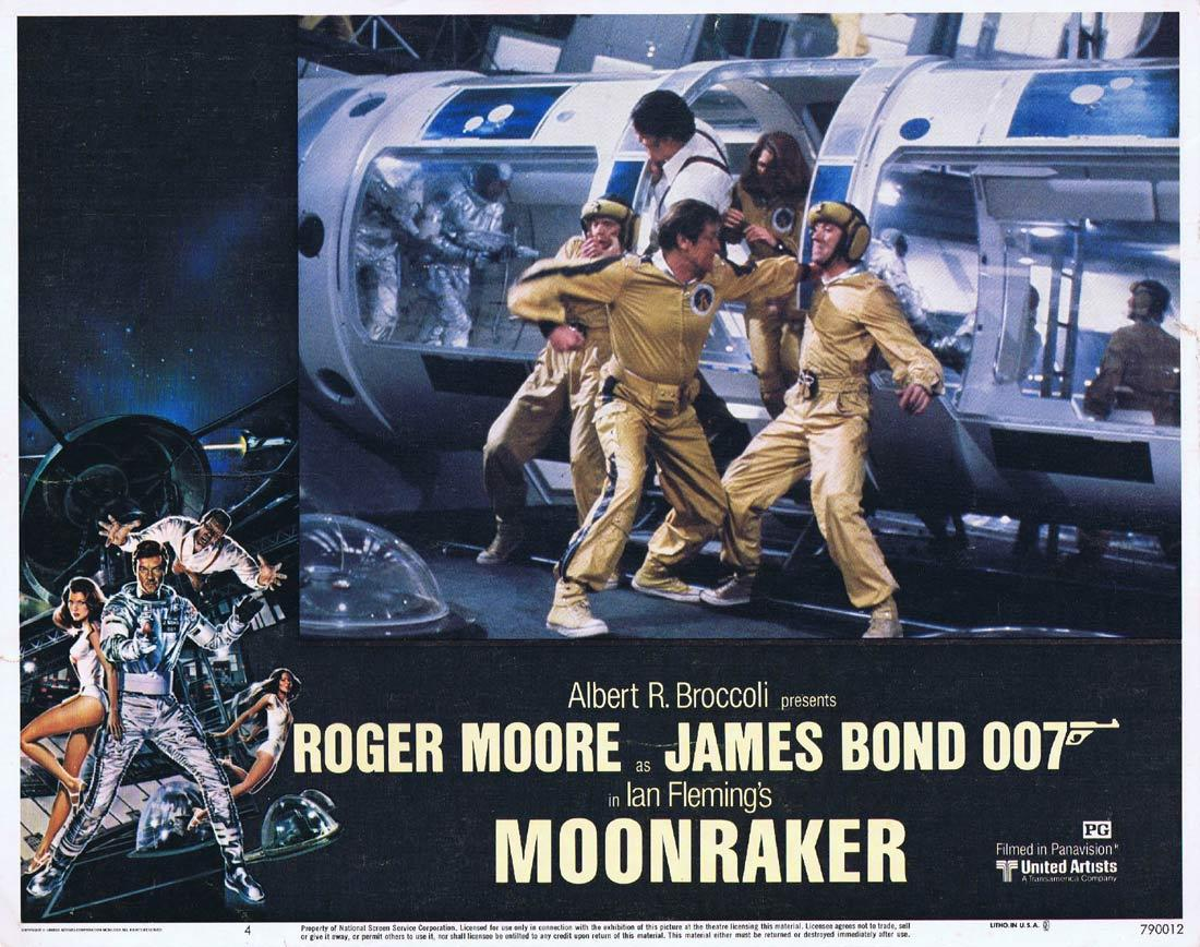 MOONRAKER Original Lobby Card 4 JAMES BOND Roger Moore Lois Chiles