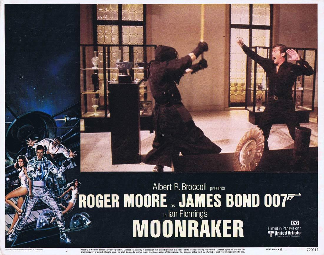 MOONRAKER Original Lobby Card 5 JAMES BOND Roger Moore Lois Chiles