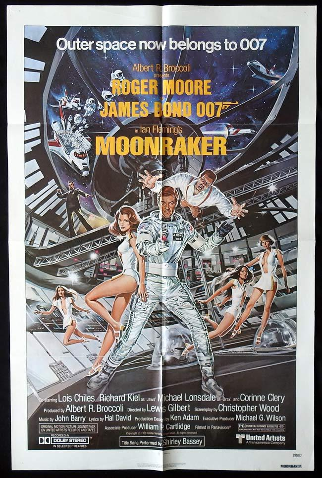 MOONRAKER Original One sheet Movie poster
