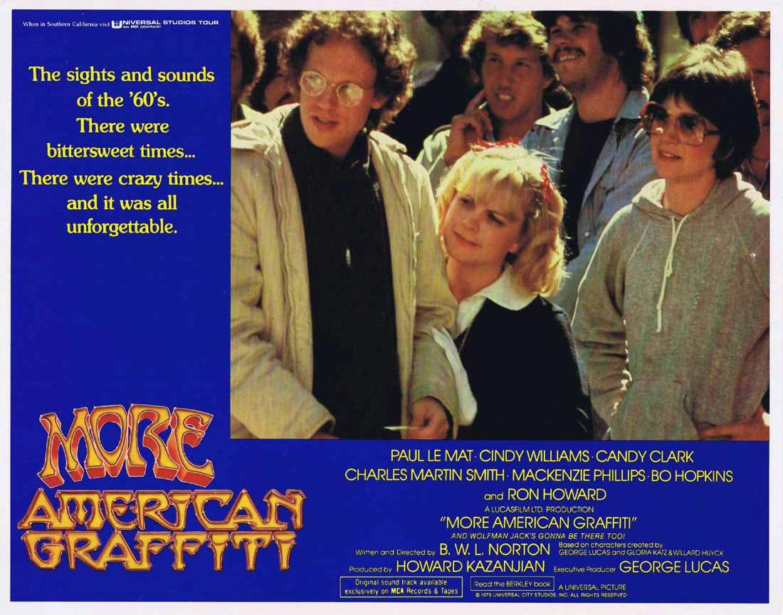 MORE AMERICAN GRAFFITI Lobby Card 3 Ron Howard Paul Le Mat
