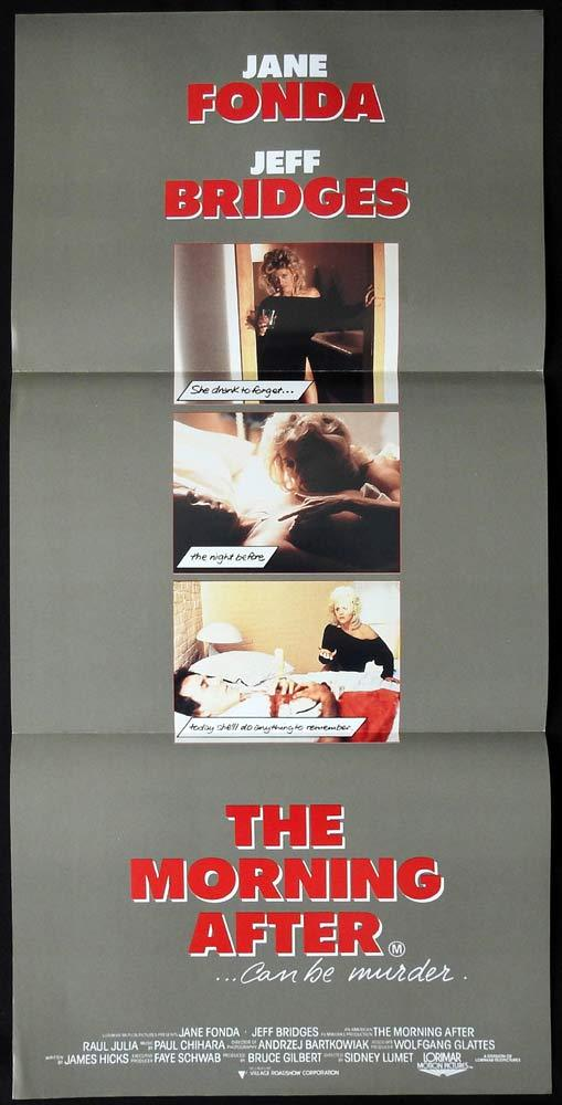 THE MORNING AFTER Original Daybill Movie poster JANE FONDA Jeff Bridges