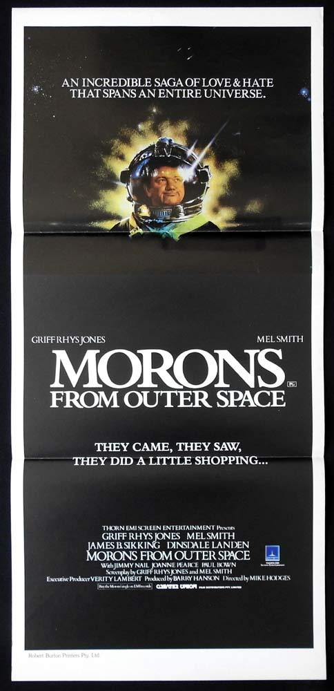 MORONS FROM OUTER SPACE Original Daybill Movie poster Mel Smith Griff Rhys Jones