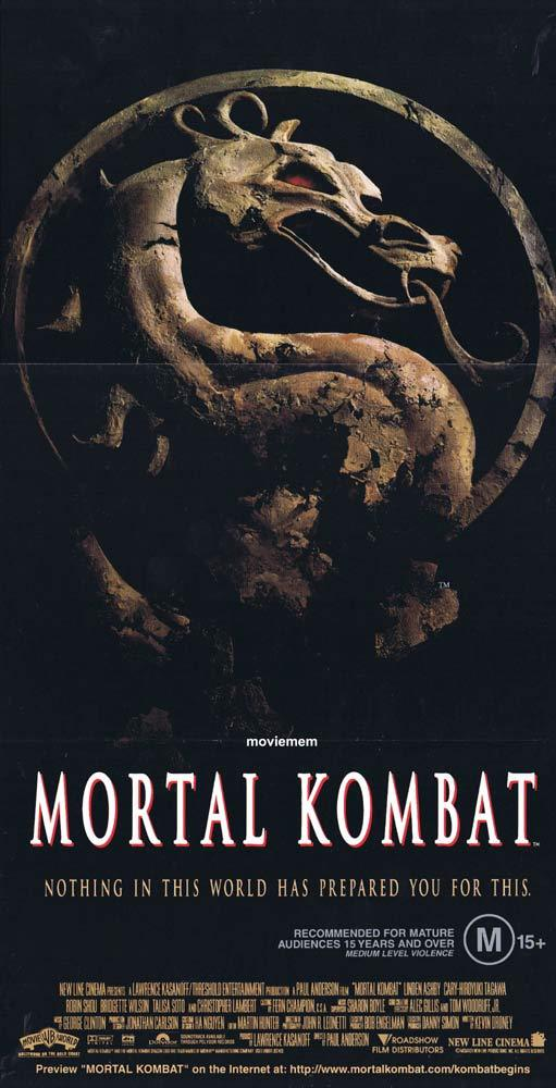 MORTAL KOMBAT Original Daybill Movie Poster Christopher Lambert