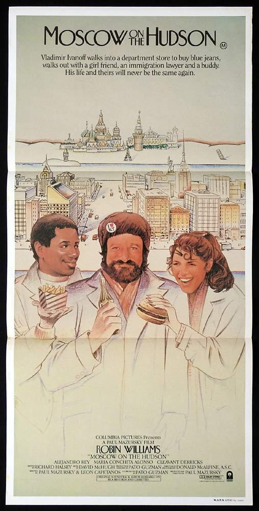 MOSCOW ON THE HUDSON Original Daybill Movie Poster Robin Williams Paul Mazursky