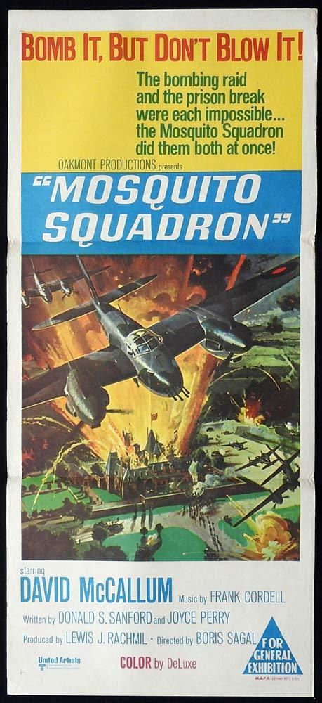 THE MOSQUITO SQUADRON Original Daybill Movie Poster David McCallum