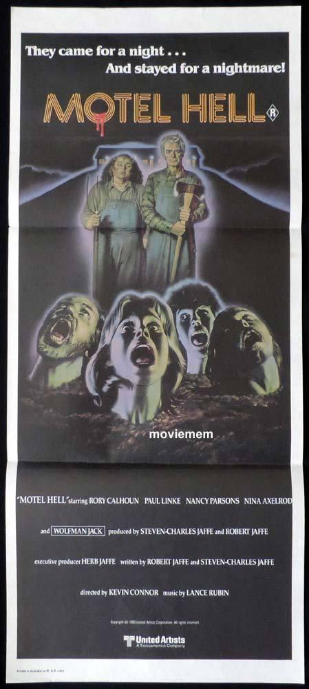 MOTEL HELL Original Daybill Movie Poster Rory Calhoun Paul Linke Nancy Parsons