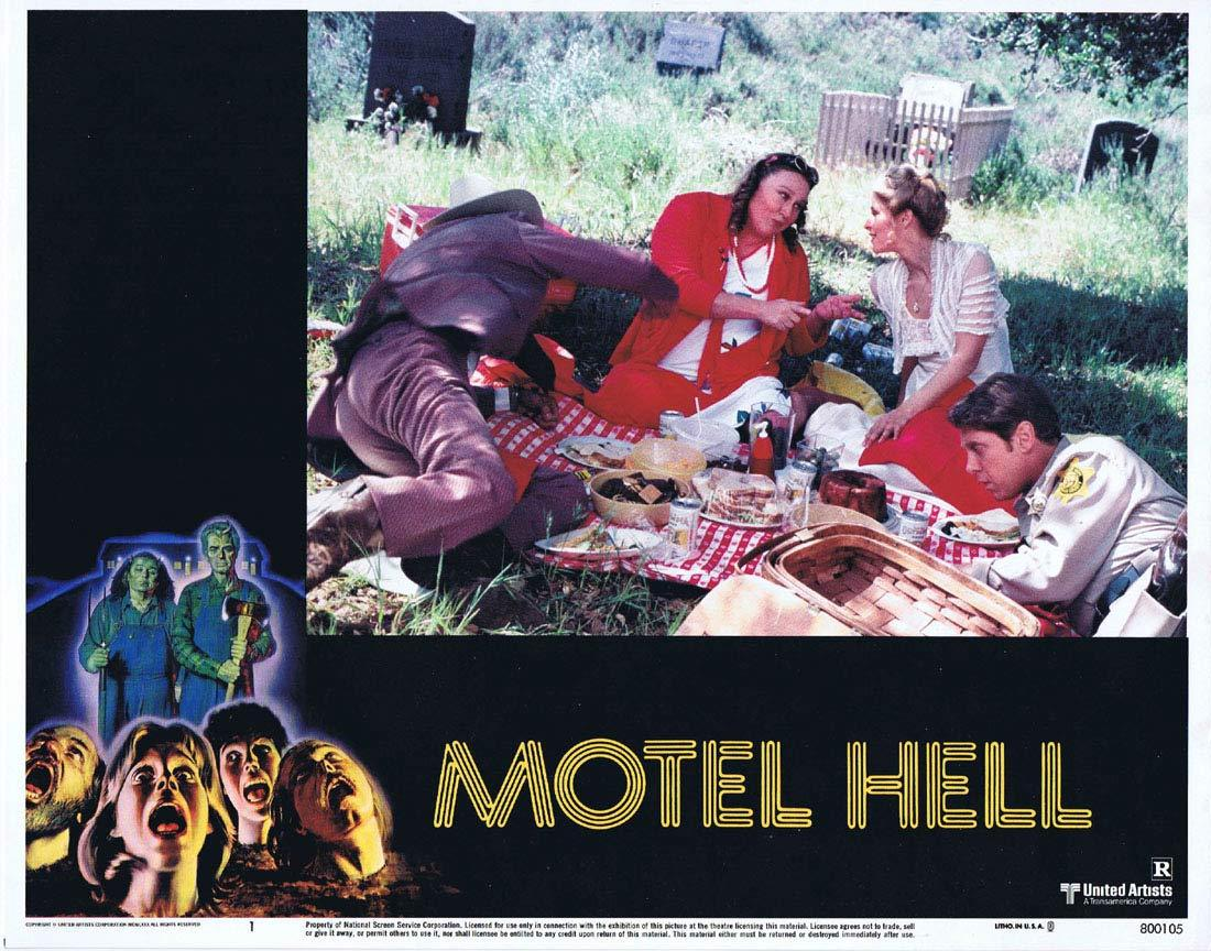 MOTEL HELL Original Lobby Card 1 Rory Calhoun Nancy Parsons Slasher Horror