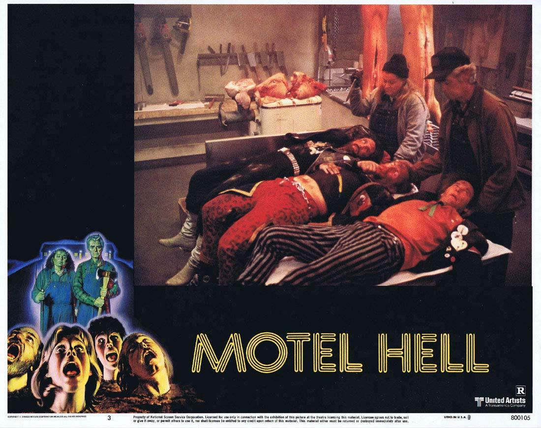 MOTEL HELL Original Lobby Card 3 Rory Calhoun Nancy Parsons Slasher Horror
