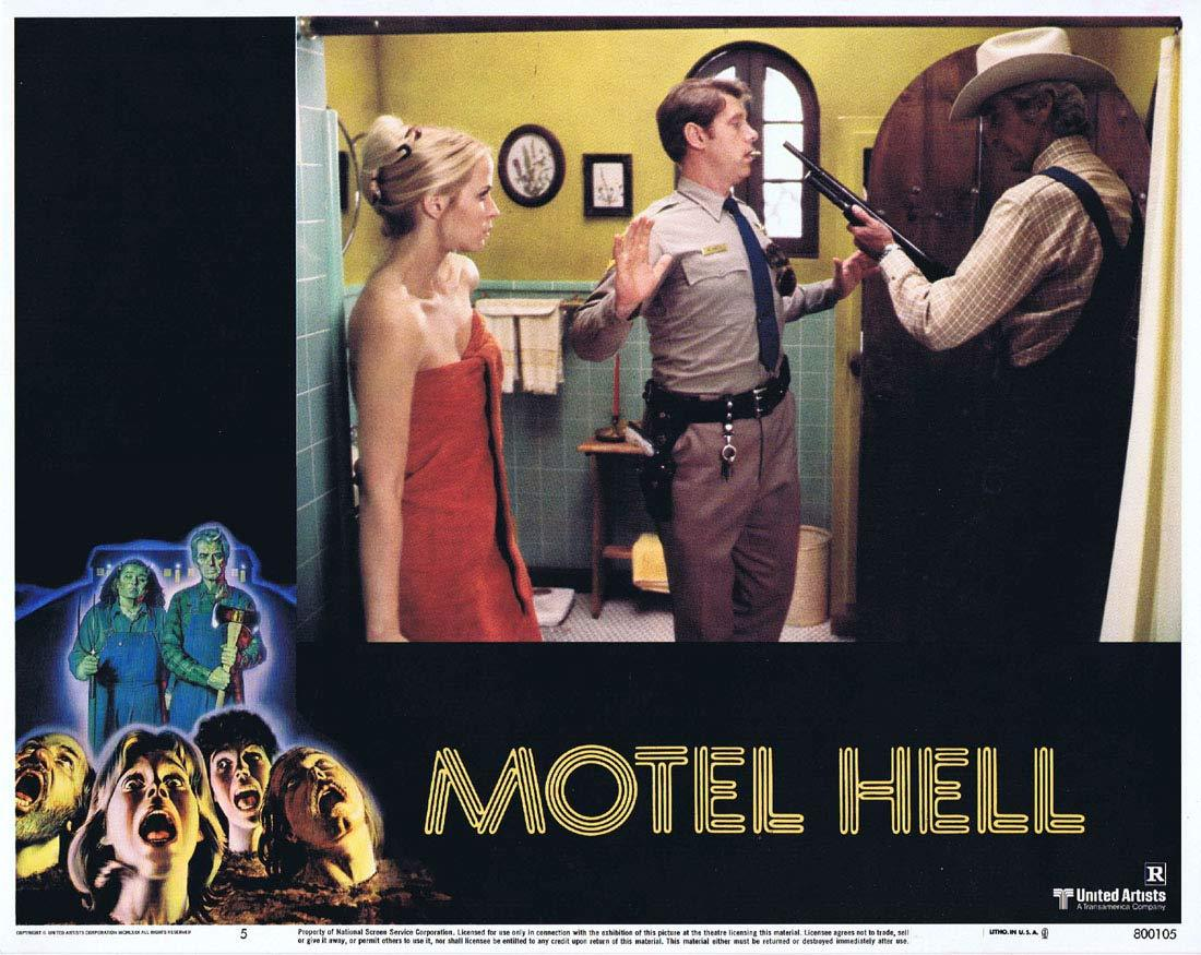 MOTEL HELL Original Lobby Card 5 Rory Calhoun Nancy Parsons Slasher Horror