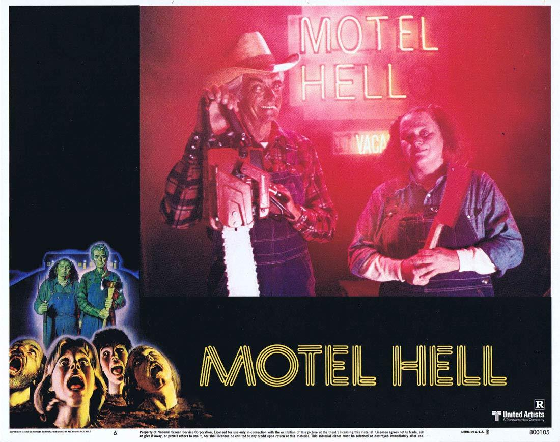 MOTEL HELL Original Lobby Card 6 Rory Calhoun Nancy Parsons Slasher Horror