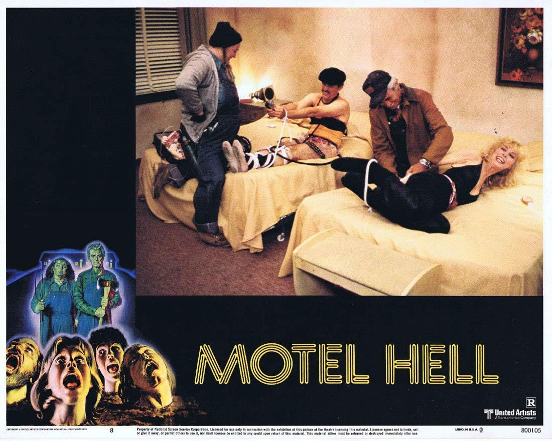 MOTEL HELL Original Lobby Card 8 Rory Calhoun Nancy Parsons Slasher Horror