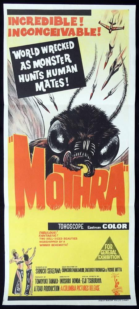 MOTHRA Original Daybill Movie Poster Toho Studios Sci Fi