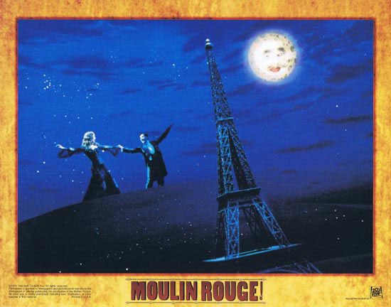 MOULIN ROUGE Original Lobby card 1 Nicole Kidman Ewan McGregor