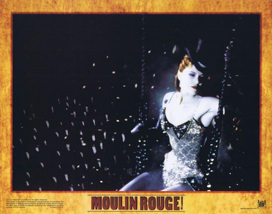 MOULIN ROUGE Original Lobby card 3 Nicole Kidman Ewan McGregor