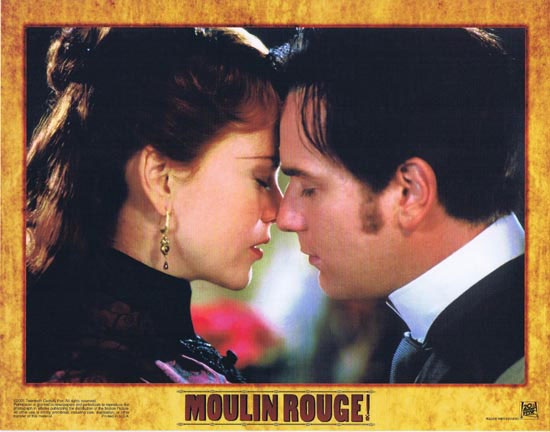 MOULIN ROUGE Original Lobby card 6 Nicole Kidman Ewan McGregor