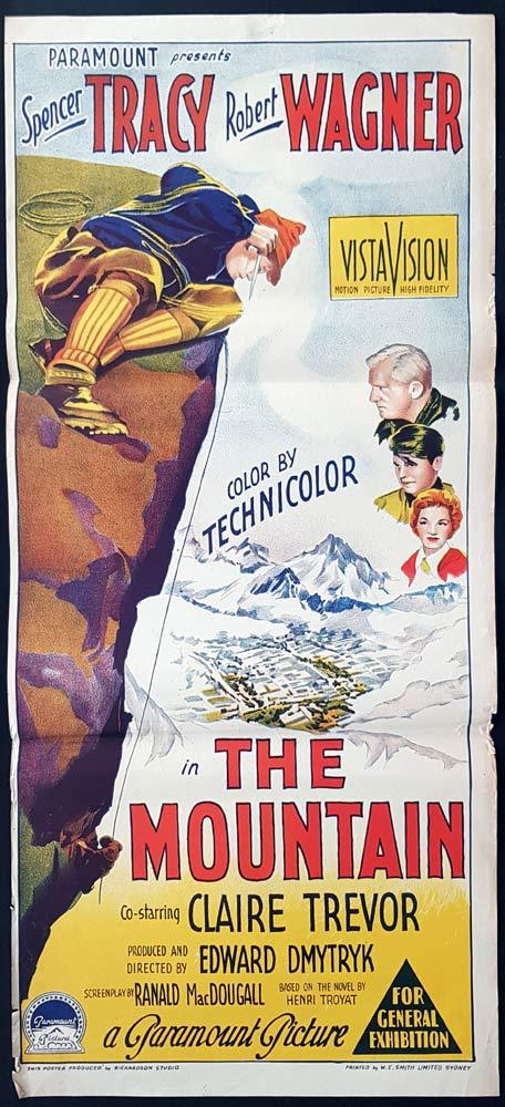 THE MOUNTAIN Original Daybill Movie Poster Spencer Tracy