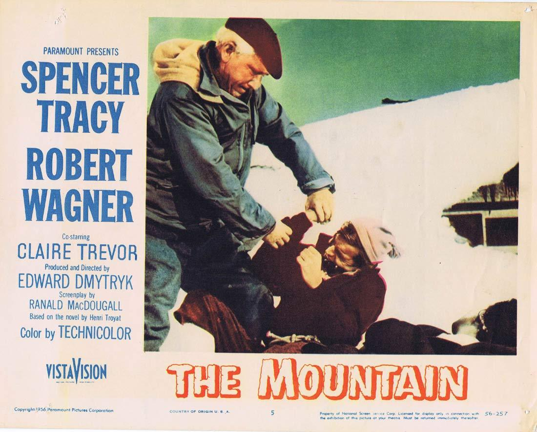 THE MOUNTAIN Original Lobby Card 5 Spencer Tracy Robert Wagner