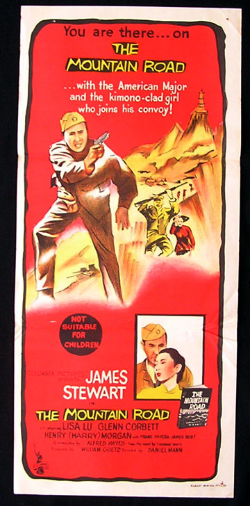 THE MOUNTAIN ROAD '60-James Stewart RARE poster