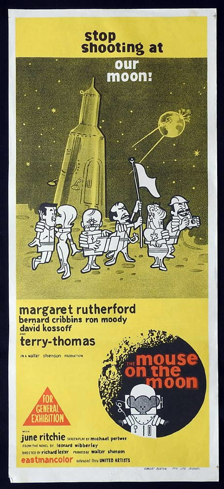 THE MOUSE ON THE MOON Original Daybill Movie Poster Margaret Rutherford