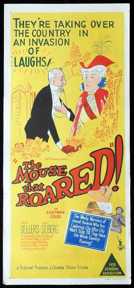 THE MOUSE THAT ROARED Original Daybill Movie Poster Peter Sellers Jean Seberg