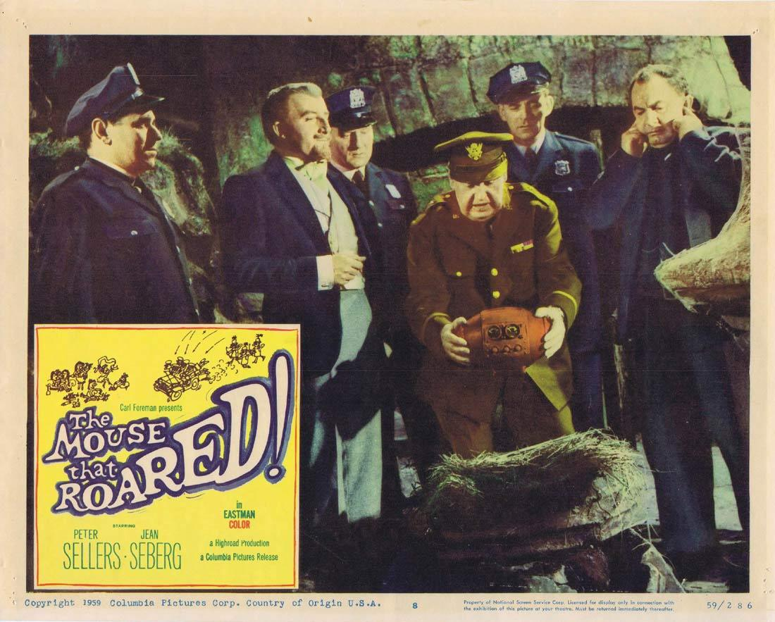 THE MOUSE THAT ROARED Lobby card 8 1959 Peter Sellers Seberg