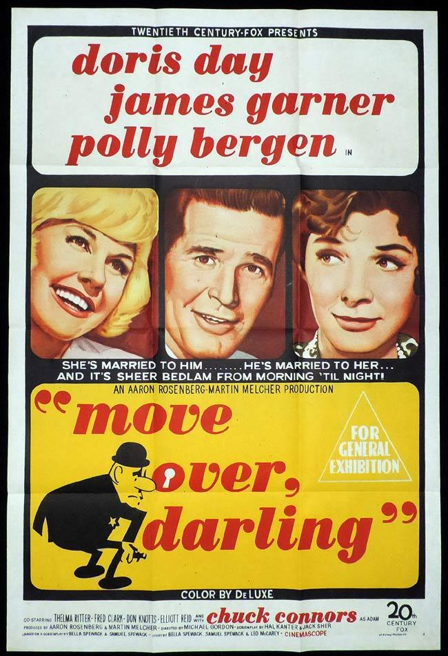 MOVE OVER DARLING One Sheet Movie Poster Doris Day James Garner