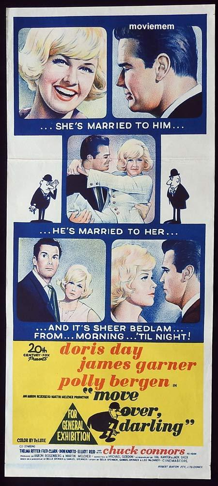 MOVE OVER DARLING Original Daybill Movie Poster Doris Day James Garner