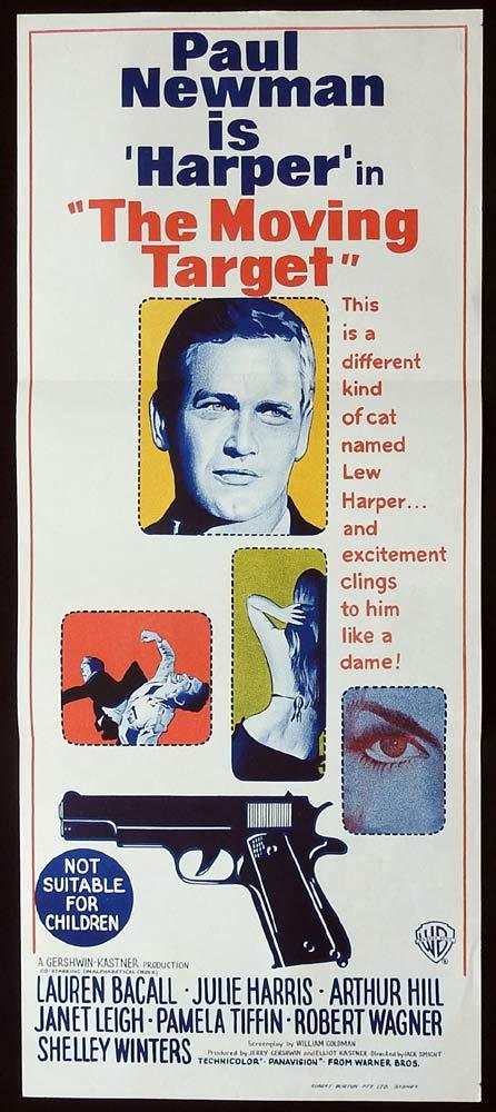 THE MOVING TARGET Harper Original Daybill Movie Poster Paul Newman