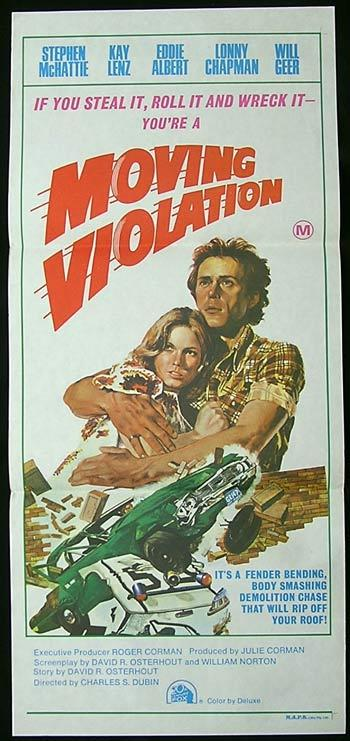 MOVING VIOLATION Original Daybill Movie Poster Stephen McHattie Roger Corman