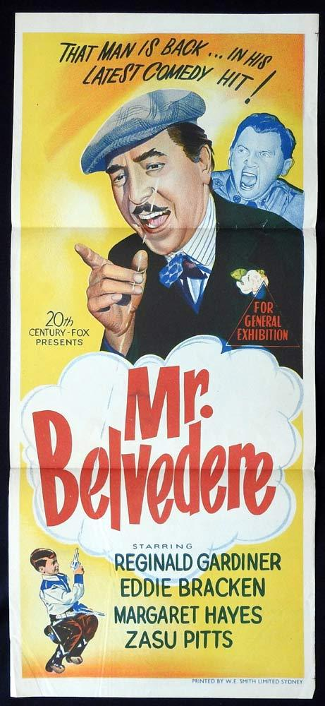 MR BELVEDERE Original Daybill Movie poster Reginald Gardiner
