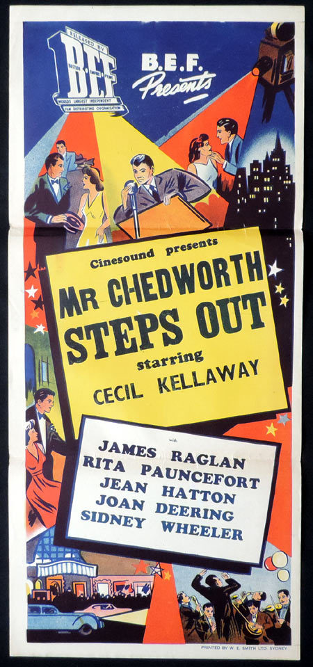 MR CHEDWORTH STEPS OUT 1940sr Daybill Movie Poster