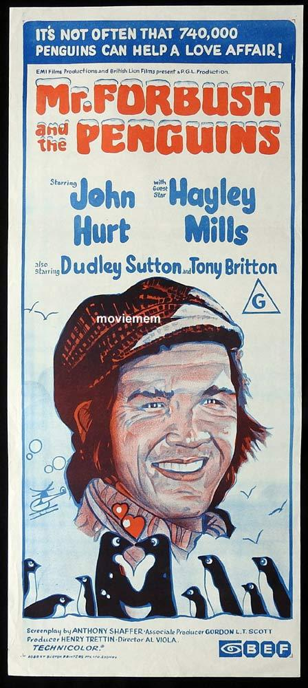 MR FORBUSH AND THE PENGUINS Original Daybill Movie Poster John Hurt Hayley Mills
