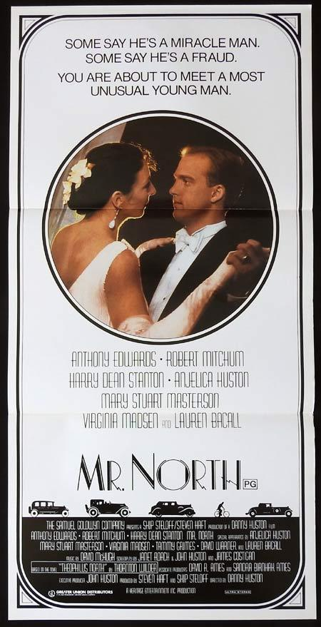 MR NORTH Original daybill Movie Poster Robert Mitchum Anthony Edwards