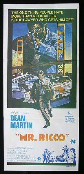 MR RICCO Original Daybill Movie Poster Dean Martin
