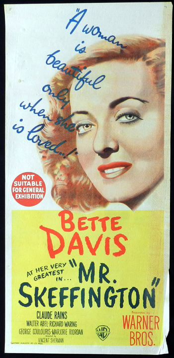 MR SKEFFINGTON daybill Movie poster Claude Rains Bette Davis