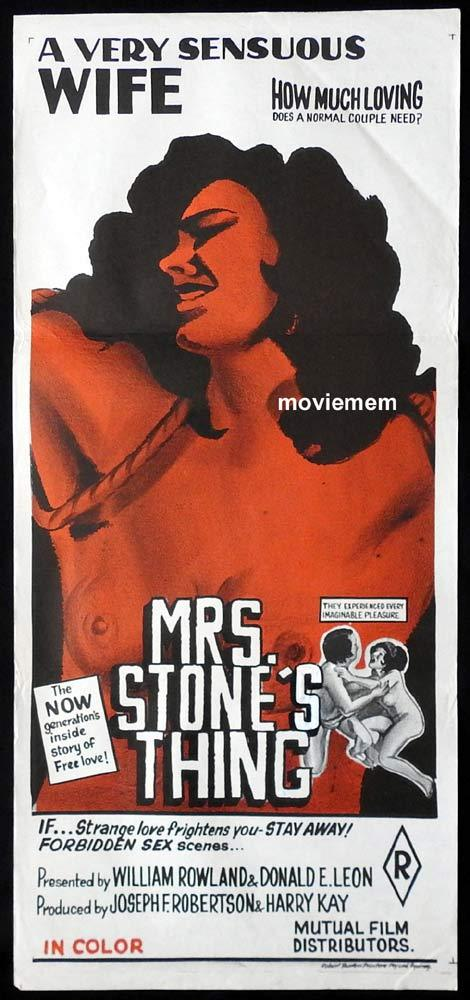 MRS STONE'S THING Original Daybill Movie Poster Karen Johnson Sexploitation