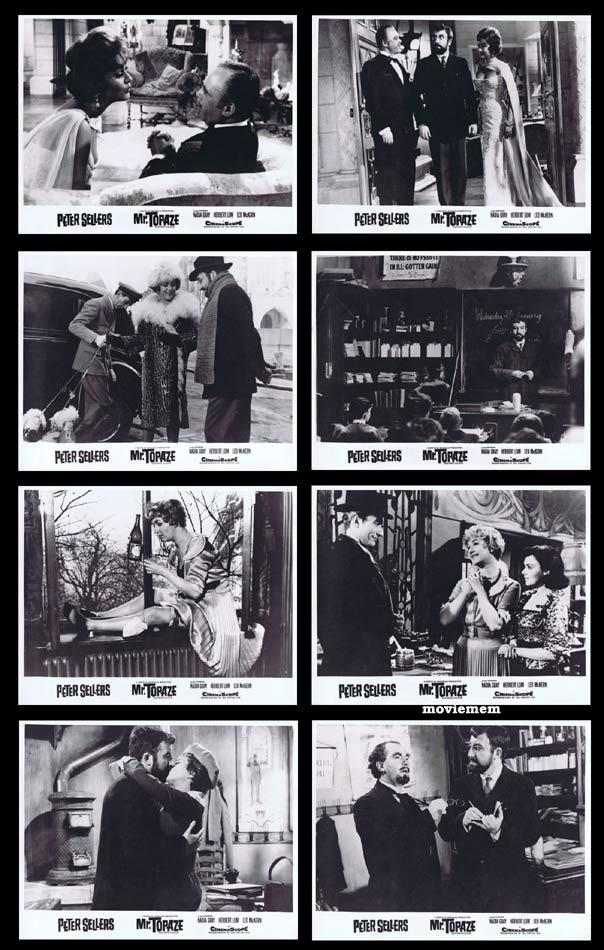MR TOPAZE Lobby Card set Peter Sellers Leo McKern