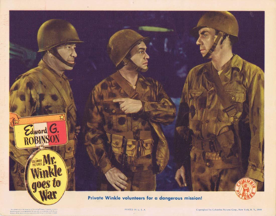 MR WINKLE GOES TO WAR Original Lobby Card Edward G. Robinson Ruth Warrick