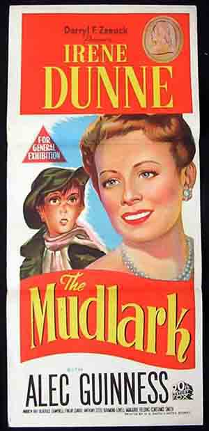 THE MUDLARK  daybill Movie poster 1950 Alec Guinness Irene Dunne