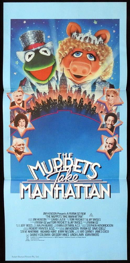 THE MUPPETS TAKE MANHATTAN Original Daybill Movie Poster Jim Henson Frank Oz