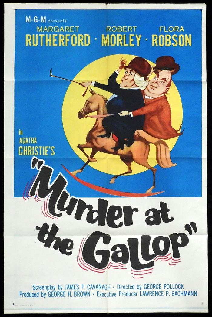 MURDER AT THE GALLOP Original US One sheet Movie poster Margaret Rutherford