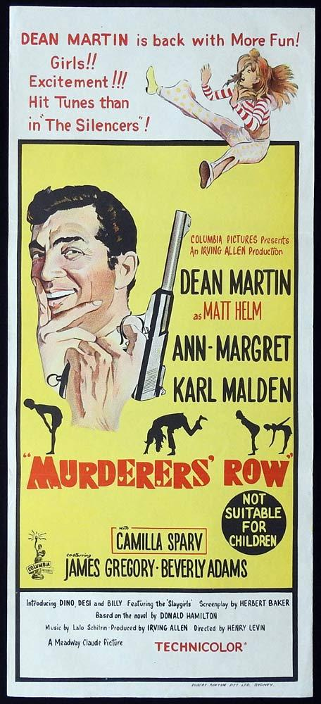 MURDERERS ROW Original Daybill Movie Poster Dean Martin Ann-Margret