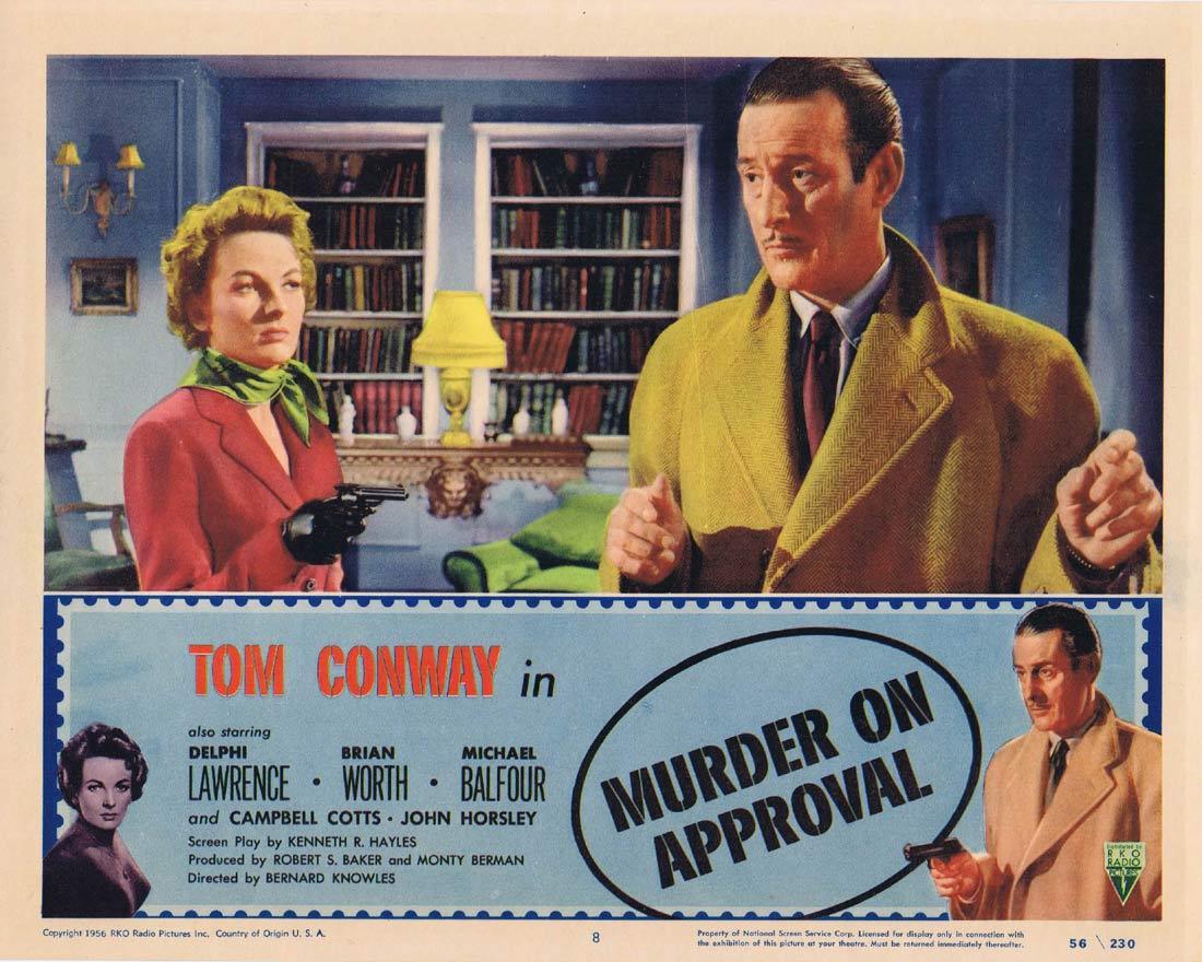 MURDER ON APPROVAL Lobby Card 8 Tom Conway Film Noir RKO