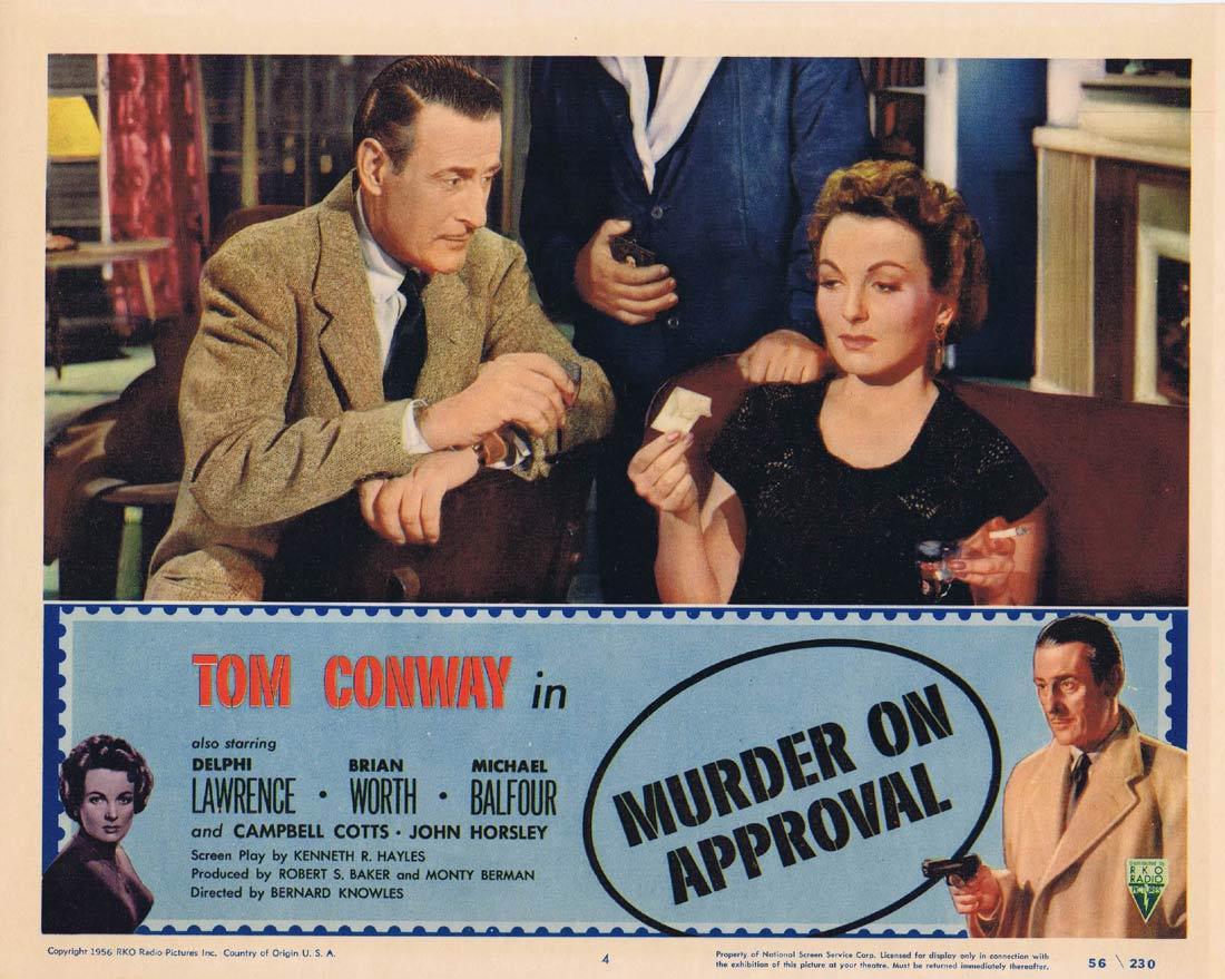 MURDER ON APPROVAL Lobby Card 4 Tom Conway Film Noir RKO
