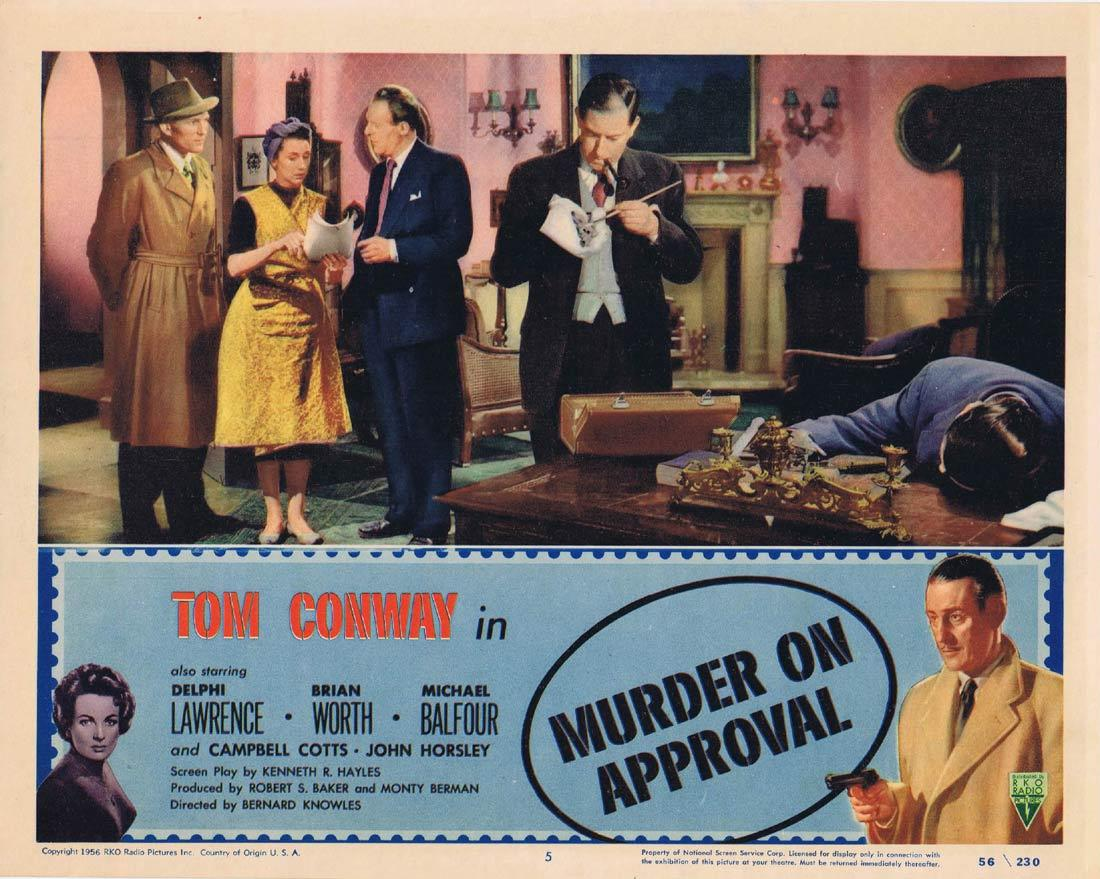 MURDER ON APPROVAL Lobby Card 5 Tom Conway Film Noir RKO