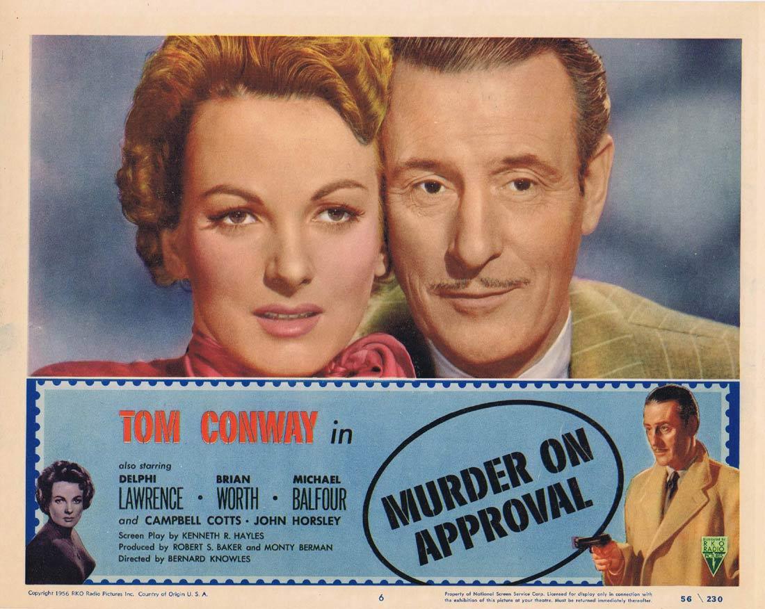 MURDER ON APPROVAL Lobby Card 6 Tom Conway Film Noir RKO