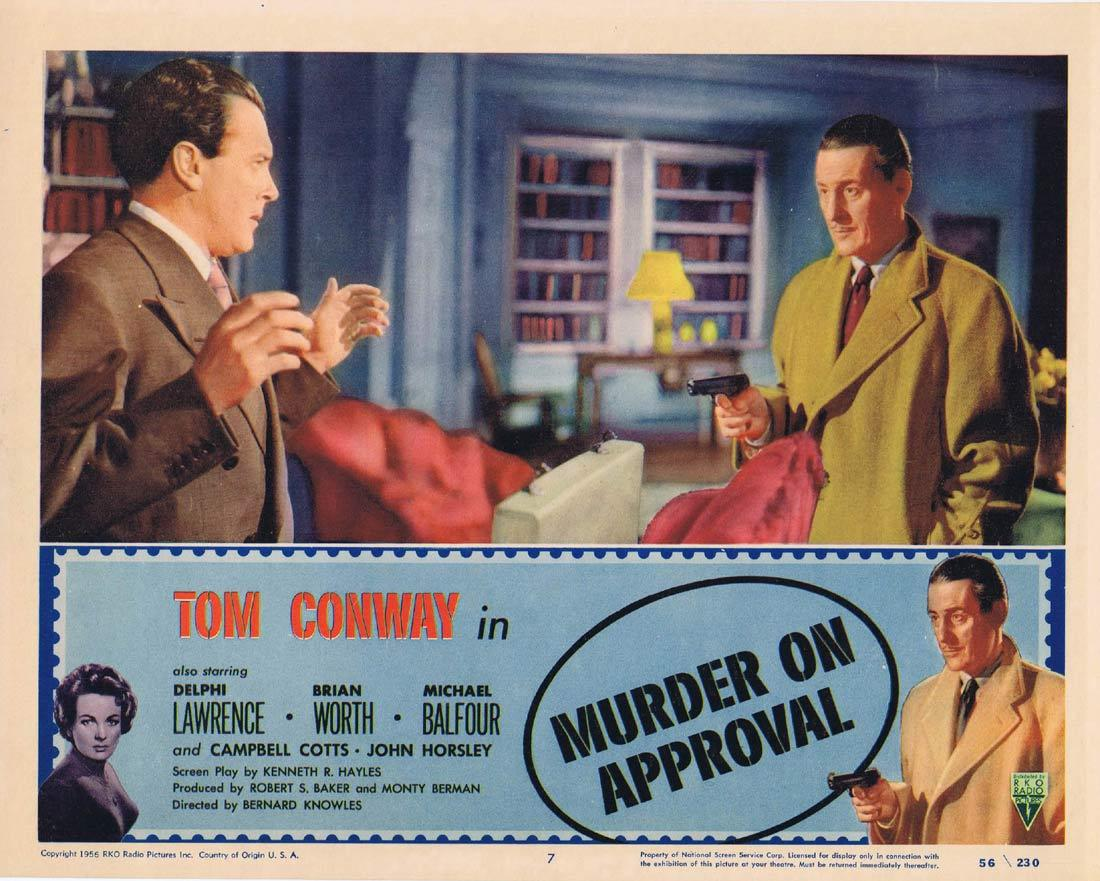MURDER ON APPROVAL Lobby Card 7 Tom Conway Film Noir RKO